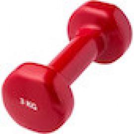 Гантели виниловые 3 кг (красная)