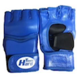 Перчатки ММА (Кожанные,синий)GMHT-001-60
