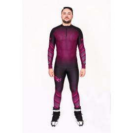 """Лыжный костюм """"Round mesh"""" (Мужской) Фиолетовый"""