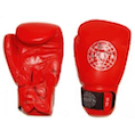 Перчатки для бокса (кожанные) AG красный