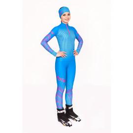 """Лыжный костюм """"Round mesh"""" (Женский) Голубой"""