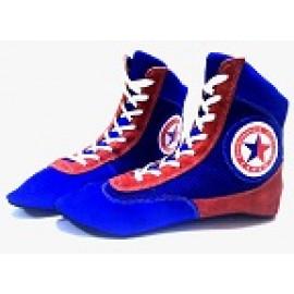 Обувь для самбо (синий с красным)