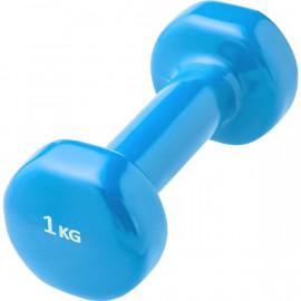 Гантели виниловые 1 кг (голубая)