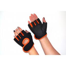 Перчатки для фитнеса неопреновые (Оранж)