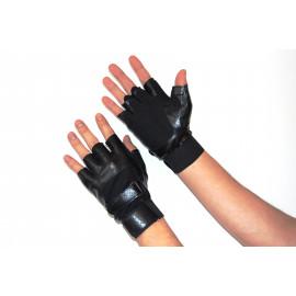 Перчатки для фитнеса (Кожзам) Чёрный