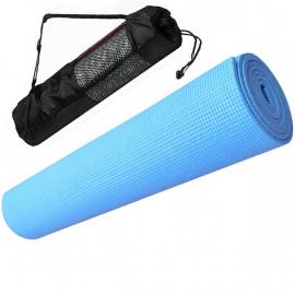 Коврик для йоги ПВХ 0,3 см(синий) с чехлом