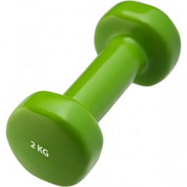 Гантели виниловые 2 кг (зеленая)