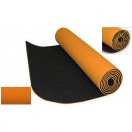 Коврик для Йоги ТПЕ 0,6 см(оранжевый) с чехлом