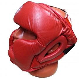 Шлем для бокса закрытый (кожа, красный)HGAG-976-40