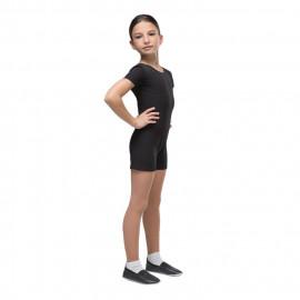 Комбинезон гимнастический укороченный, с коротким рукавом