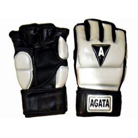 Перчатки ММА (Кожанные,бело-черный)GMAG-001-10