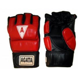 Перчатки ММА (Кожанные,красно-черный)GMAG-001-40