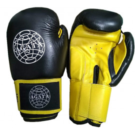 Перчатки для бокса (кожанные) AG черный