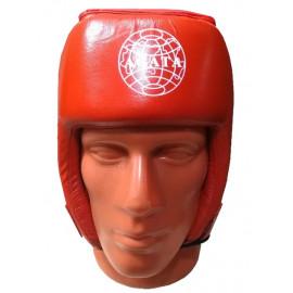 Шлем для бокса открытый(Кожа, красный)HGAG-900-40