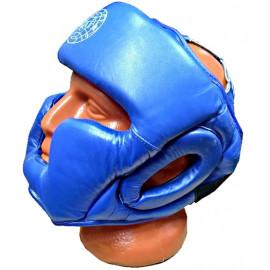 Шлем для бокса закрытый (кожа, синий)HGAG-976-60