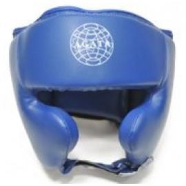 Шлем для бокса полузакрытый (Кожзам, синий)HGAG-979-60