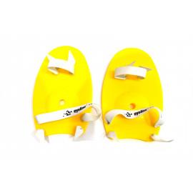 Лопатки кистевые для плавания  (желтые)
