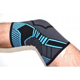 Суппорт колена (серо-синий)