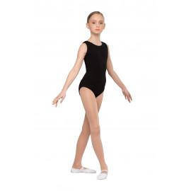 Купальник гимнастический без рукавов  (Хлопок, эластан)