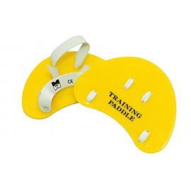 Лопатки пальцевые для плавания   (желтые)