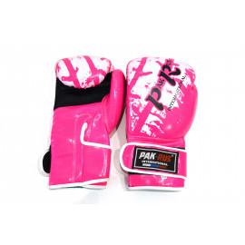 Перчатки для бокса (кожзам, розовый) PR