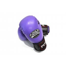 Боксерские перчатки (кожзам, сиреньевый) PCH