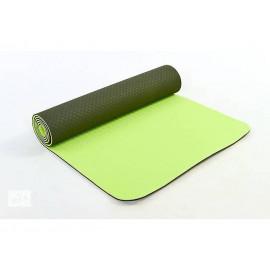 Коврик для Йоги ТПЕ 0,6 см(зеленый) с чехлом